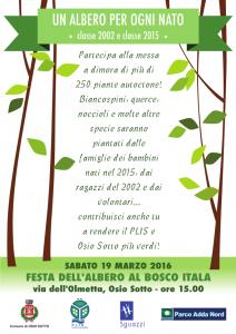 Festa dell'albero 2016 - Bosco Itala