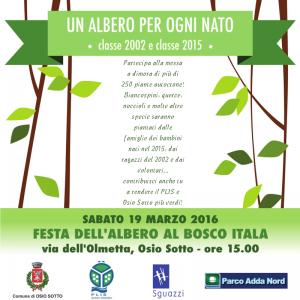 Festa dell'Albero 2016 al Bosco Itala